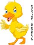 cute duck cartoon  | Shutterstock .eps vector #756220405