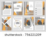 abstract vector layout... | Shutterstock .eps vector #756221209