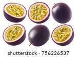 passion fruit set isolated on... | Shutterstock . vector #756226537