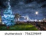 winter in london  christmas... | Shutterstock . vector #756229849