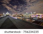 night in london and st paul... | Shutterstock . vector #756234235