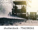 road construction and  machines ... | Shutterstock . vector #756238261
