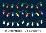 set of color garlands  festive... | Shutterstock .eps vector #756240949