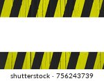 warning sign yellow and black... | Shutterstock . vector #756243739