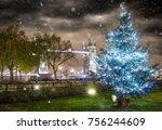 the iconic tower bridge in...   Shutterstock . vector #756244609
