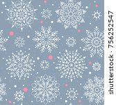 beautiful seamless pattern with ...   Shutterstock .eps vector #756252547