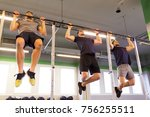 sport  fitness  exercising and... | Shutterstock . vector #756255511