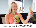 technology  people and leisure... | Shutterstock . vector #756255541