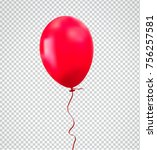 brilliant red balloon with... | Shutterstock .eps vector #756257581