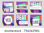 abstract vector layout... | Shutterstock .eps vector #756262981