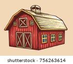 vector illustration of farm...   Shutterstock .eps vector #756263614
