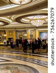 Small photo of LAS VEGAS, USA - SEP 21, 2017: Reception hall of the Caesars Palace, a AAA Four Diamond luxury hotel and casino, Las Vegas Strip, Paradise, Nevada, United States.