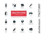 healthy food   line design... | Shutterstock .eps vector #756271885