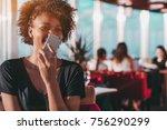 appealing young brazilian... | Shutterstock . vector #756290299
