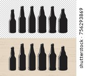 set of textured craft beer... | Shutterstock .eps vector #756293869