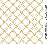 seamless golden ornament in... | Shutterstock . vector #756296605