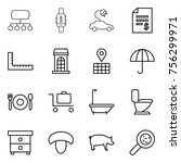 thin line icon set   structure  ...   Shutterstock .eps vector #756299971