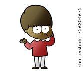curious cartoon boy | Shutterstock .eps vector #756304675