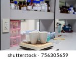 crucible for science laboratory | Shutterstock . vector #756305659