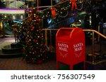 santa mail box at cruise liner | Shutterstock . vector #756307549