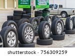 editorial use only  car tires... | Shutterstock . vector #756309259