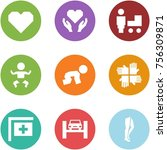 origami corner style icon set   ... | Shutterstock .eps vector #756309871