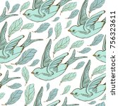 seamless vector pattern with... | Shutterstock .eps vector #756323611
