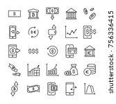 modern outline style... | Shutterstock .eps vector #756336415