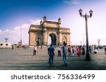 gateway of india at day time... | Shutterstock . vector #756336499