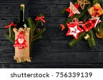 christmas table serving  and a ... | Shutterstock . vector #756339139