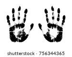 print hand of human  cute skin...