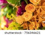 mixed flower arrangement ... | Shutterstock . vector #756346621