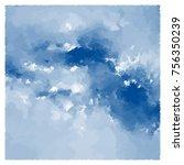 sky painting  background vector ... | Shutterstock .eps vector #756350239