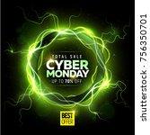 cyber monday sale banner | Shutterstock .eps vector #756350701