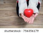 beautiful young woman wearing a ... | Shutterstock . vector #756356179