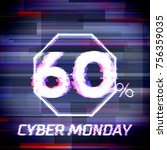 cyber monday sale discount... | Shutterstock .eps vector #756359035
