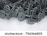 Background Of Many Gray Plasti...