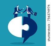 unity. business vector concept... | Shutterstock .eps vector #756374974