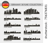 most famous germany cities... | Shutterstock .eps vector #756376831