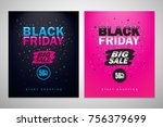 black friday sale inscription... | Shutterstock .eps vector #756379699