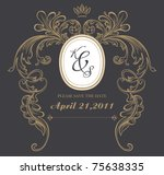 dark formal card design best... | Shutterstock .eps vector #75638335
