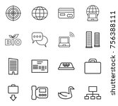 thin line icon set   target ... | Shutterstock .eps vector #756388111