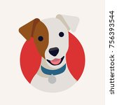 cute vector portrait of jack... | Shutterstock .eps vector #756393544