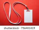 blank white vertical badge... | Shutterstock . vector #756401419