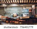 the oven in the restaurant | Shutterstock . vector #756401779