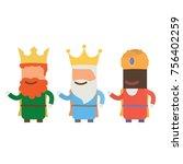 three wise man  vector... | Shutterstock .eps vector #756402259