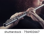 Close up of a woman playing the ...