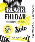 black friday sale advertising....   Shutterstock .eps vector #756402991