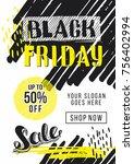 black friday sale advertising.... | Shutterstock .eps vector #756402994