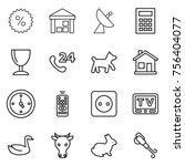 thin line icon set   percent ... | Shutterstock .eps vector #756404077